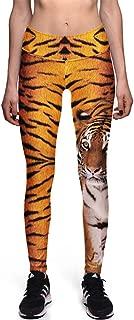 Women Digital Print Leggings Stretch Tight Pant Ninth Pants