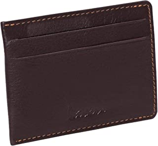 Laveri Genuine Leather Credit Card Holder Wallet Magnetic Bill and Card Holder Wallet for Unisex - Leather, Brown