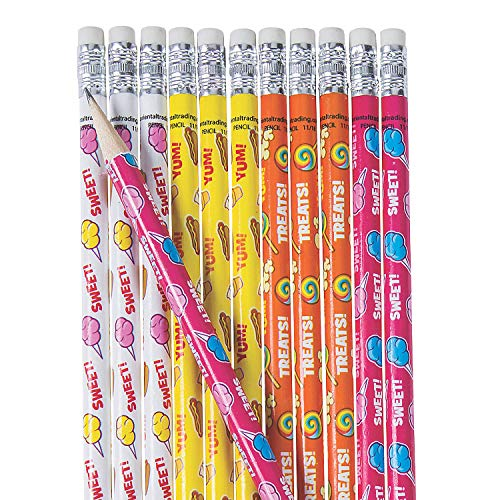 Carnival Foods Scented Pencils (set of 24) hot dogs, cotton candy, popcorn and more