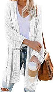 Women Casual Kimono Cardigan Sweater Long Sleeve Loose Knit Drape Coats