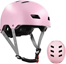 LANOVAGEAR Skateboard Helmet ASTM & CPSC Certified - 12 Vents Ventilation System – Adjustable for Kids, Youth & Adults