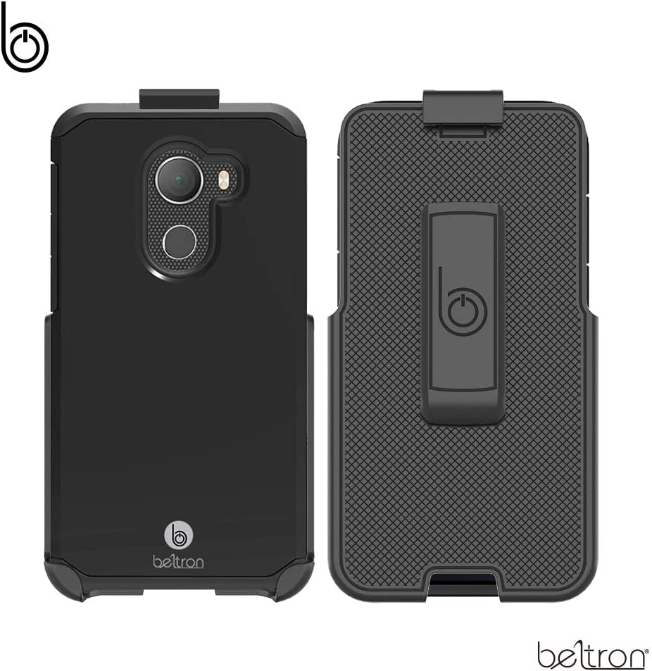 """BELTRON Jitterbug Smart 2 Phone Case with Belt Clip, Heavy Duty Case with Rotating Belt Clip Holster Combo (Built-in Kickstand) Exclusively for GreatCall Jitterbug Smart2 Easy-to-Use 5.5"""" Smartphone"""