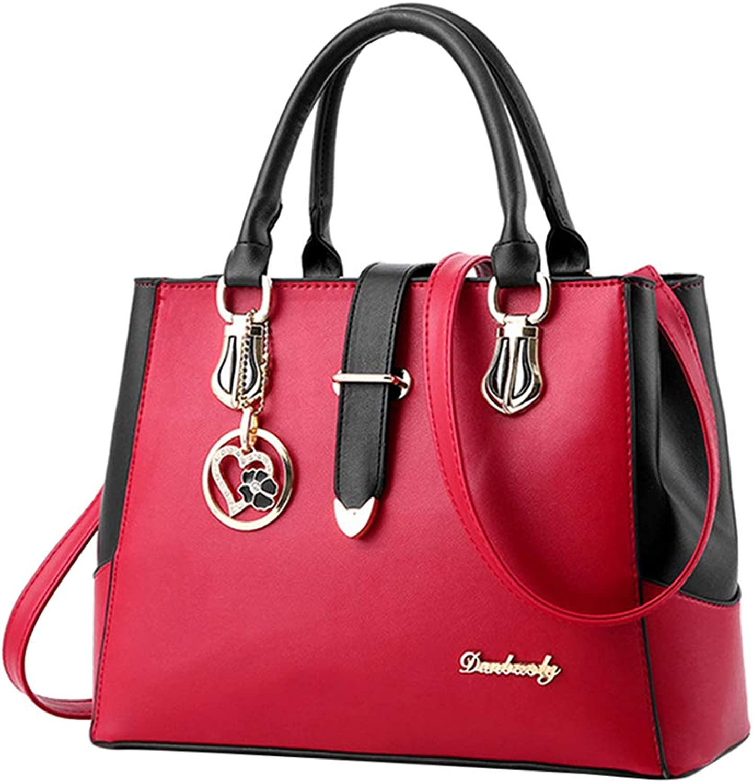 Uirend Large Capacity Shoulder Bags Totes Women - Ladies PU Leather Satchel Handbags Work Party Casual Top Handle Bags