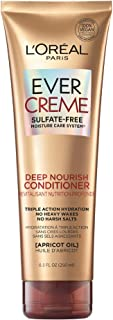 L'Oreal Paris EverCreme Deep Nourish Sulfate Free Conditioner, with Apricot Oil, 8.5 Fl. Oz (Pack of 1) (Packaging May Vary)