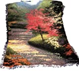 Manual Thomas Kinkade Fringed 50 x 60-Inch Throw, Afternoon Light Dogwood with Proverb
