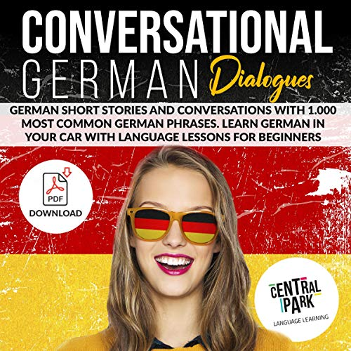 Conversational German Dialogues: German Short Stories and Conversations with 1,000 Most Common German Phrases Titelbild