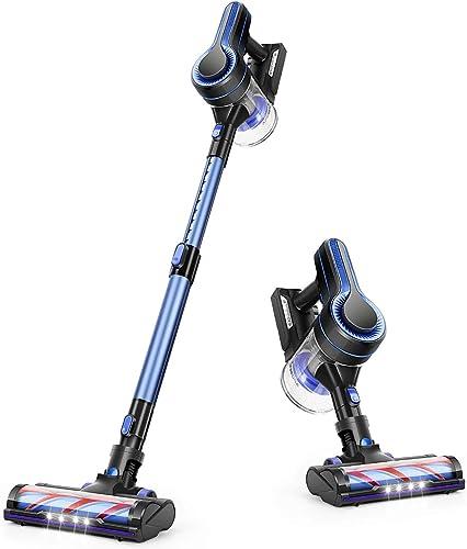 APOSEN Cordless Vacuum Cleaner 18KPa Powerful Suction 250W Brushless Motor 4 in 1 Stick Handheld Vacuum for Home Hard Floor Carpet Car Pet H250 Blue product image
