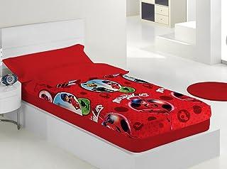 EXP-TRADING Lady-Bug Saco NÓRDICO con Relleno Cama de 90 cm Rojo