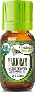 Organic Marjoram Essential Oil (100% Pure - USDA Certified Organic) Best Therapeutic Grade Essential Oil - 10ml