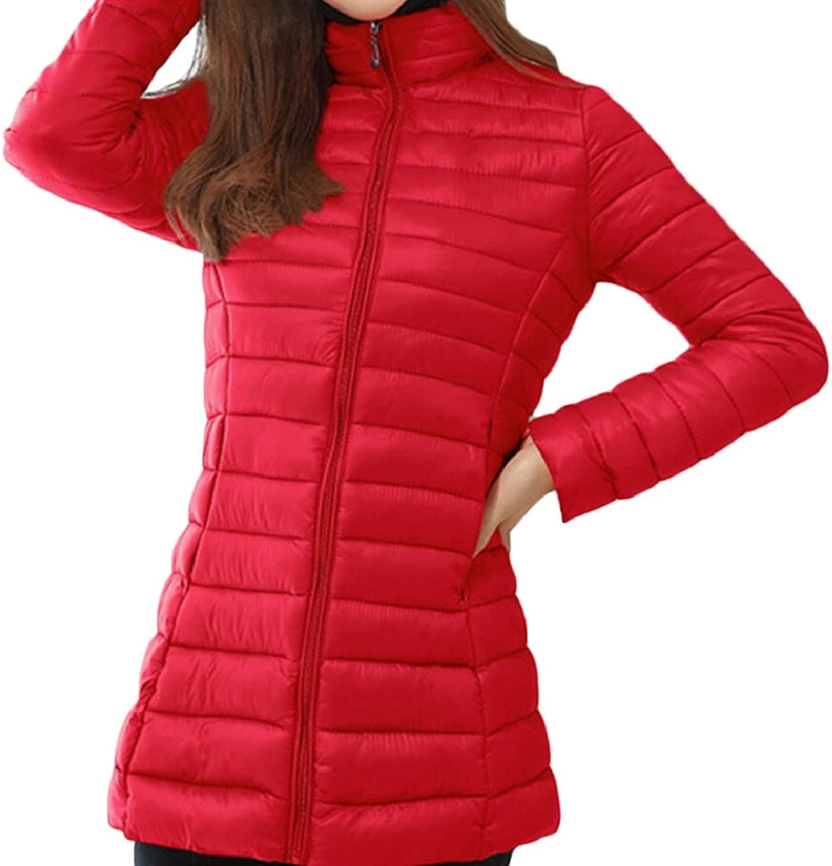 Maweisong Womens Full Zip Down Jackets Puffer Coat Long Outwear