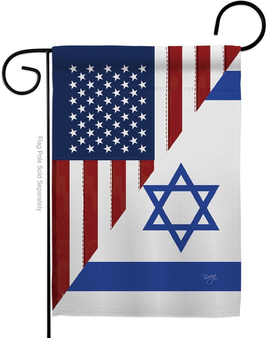 US Friendship Fees free Israel Superlatite GF Garden Regional USA Flag American Allian