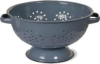 Blue vintage style enamel colander