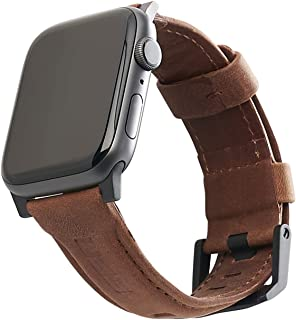URBAN ARMOR GEAR UAG Compatible Apple Watch Band 44mm 42mm, Series 5/4/3/2/1, Leather Brown