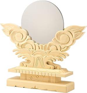 至極 守護 極上 龍神 ご神体に 神棚 神鏡 台付 (2寸) 彫り ■ 神具 龍彫り