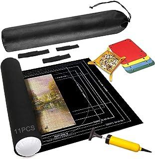 HUOHUOHUO Felt Mat for Puzzle Storage,Jigsaw Feutre Tapis,Puzzle Roll up Mat,Tapis de Puzzles Portable,Puzzle JUSQU'À 2000...