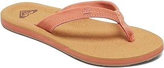 Roxy Avila Suede Flip Flop Carver Sandal Sport womens Slide Sandal