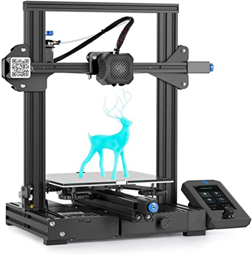 Official Creality Ender 3 V2 Upgraded 3D Printer with Silent Motherboard Meanwell Power Supply Carborundum Glass Plat...