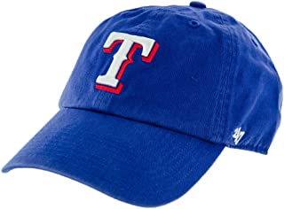 '47 MLB Texas Rangers Clean Up Adjustable Hat, Blue, One Size