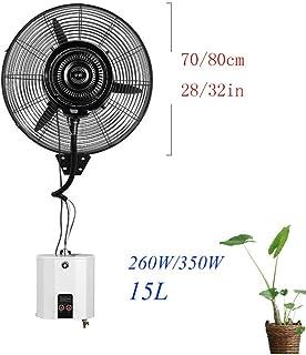 N / A Partición Industrial Ventilador silencioso Ventilador oscilante aspersión sin humidificador con Tanque de Agua de Control Remoto 3 15L Velocidad,mecánicamente,70 cm / 28in