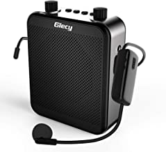 Giecy Voice Amplifier Wireless Personal with UHF Microphone Headset 30W 2800mAh Portable Amplifiers Rechargeable for Teachers Singing CoachesTraining Tour Guide