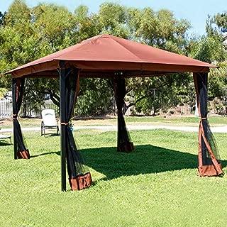 Barton 10' x 12' ft Metal Patio Gazebo Canopy Opt W/Mosquito Flys Net UV-Resistant Stand Backyard Sun Shade Netting