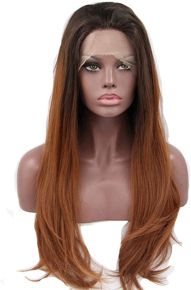 LAZNG Wigs Wig Ms. Chemical Fiber Big Brown Wave Front High Popular overseas Ranking TOP12 Lace