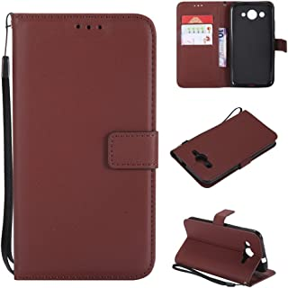 NCTECHINC Huawei Y3 2017 - Pouches Pouch Wallet Style Flip Cover Case For Huawei Y3 2017 ONLY (Huawei Y3 2017 Cover Coffee)