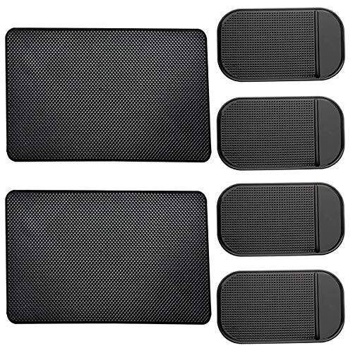 Leave no Residue Radar Detector Non-Slip Mat Heat Resistant JIMISHA 2 Pack Anti-Slip Car Dash Sticky Pads 6.32.8 in Dont Stink Cell Phone Dashboard Holder