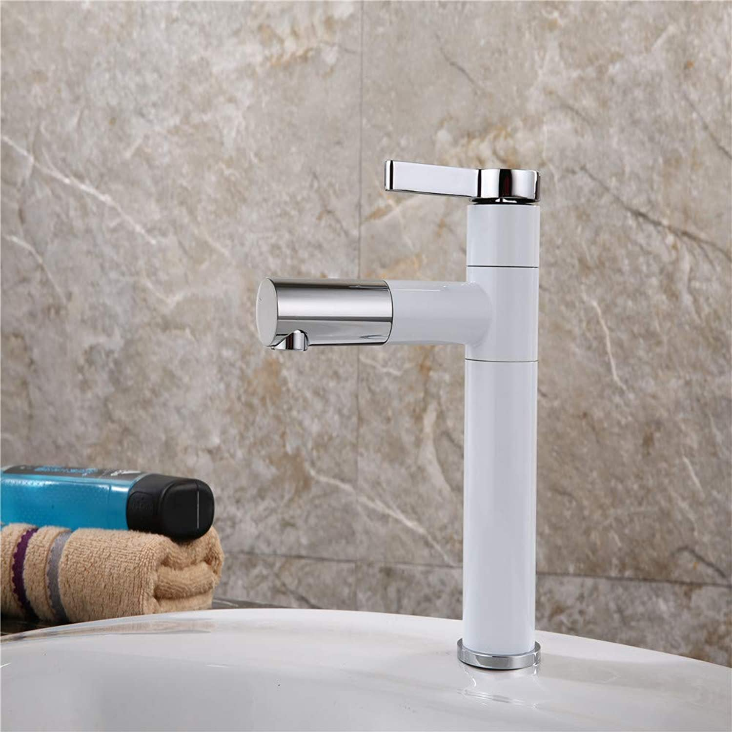 Bathroom Waterfall Basin Faucet Single Hole Brass hot and Cold Water Deck Inssizetion