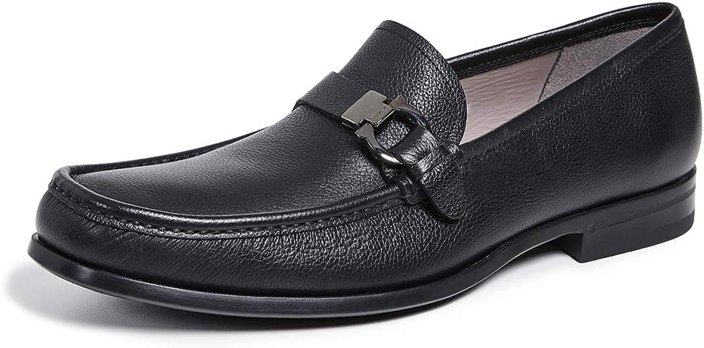 SALVATORE FERRAGAMO In stock Men's Free Shipping Cheap Bargain Gift Adam Single Side Loafers Gancio