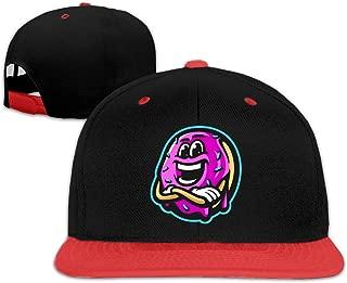 Boy MoreJStu Polyester Adjustable Baseball Cap Red