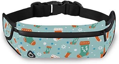Kerstmis Stocking Taille Pack Bag voor Fietsen Fitness Oefening Waterdichte Verstelbare Workout Fanny Pack Vrouwen Mannen ...