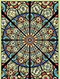 2020 Custom Size Stained glass stickers for windows translucent church stained glass windows doors wardrobe foil 60x100cm