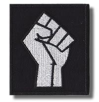 Patch Motiv Faust / a raised Fist solidarity 7 x 8 cm