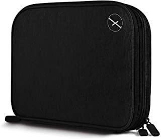 Xmate Waterproof Double Layer-Electronic Travel Organiser, Universal Travel Case, Portable Zippered Pouch for All Small Gadgets, HDD, Power Bank, USB Cables, Power Adapters (Black)