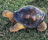 Bellaa 22441 Outdoor Garden Turtle Statues 15 inch Tanya Galapagos Tortoise Todd Large Animal Patio Lawn Decor