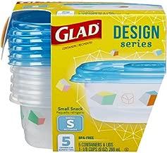 Glad Designer Series 5 Small Rectangular 9oz Containers & Lids