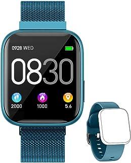 comprar comparacion BANLVS Smartwatch, 1.4 Inch Reloj Inteligente IP67 con Pulsómetro Presión Arterial, Monitor de Sueño Podómetro Contador de...