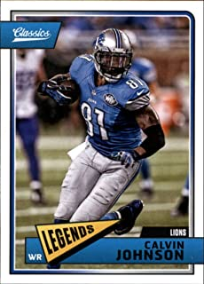 2018 Panini Classics #129 Calvin Johnson Lions Legend Football Card
