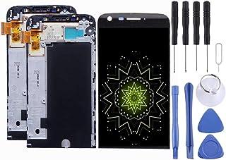 مجموعة جهاز عرض رقمي بشاشة LCD + شاشة تعمل باللمس مع إطار، شاشة LCD ومحول رقمي كامل مع إطار، لجهاز LG G5 H840 / H850