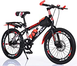 AWP Bicycles for Boys 13 and Up,Bicycle with Dual Disc Brakes, Carbon Steel Frame with Shock Absorber Mountain Bike (24 In...