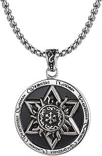 HERLANKKI Megan Star of David Necklace Hexagram Amulet Titanium Steel Pendant Jewish Religious Vintage Jewelry