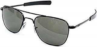 AO Original Pilot Sunglasses, Black, Bayonet, Green Glass Lenses - 52mm B-TCGG-B