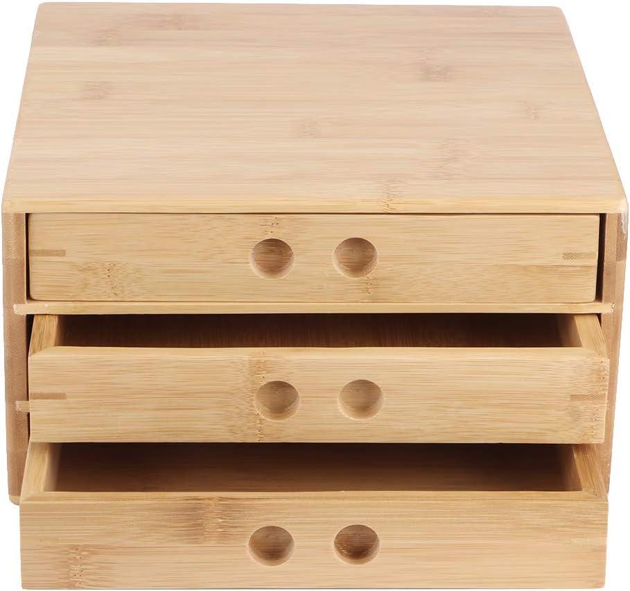 Tea Cake Storage Box Tray O for Layers 5 ☆ very popular store Bamboo Three