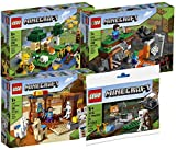 Exclusive Set Lego Minecraft: The Bee Farm, The Abandoned Mine, The Trading Post and The Skeleton Defense Bundle