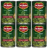 Del Monte No Salt Cut Green Beans, 14.5 oz, 6 pk