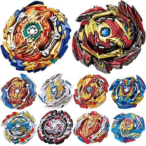 HIGBRE Gyros 10 Pieces Pack, Battling Top Battle Burst High Performance Set, Birthday Party School Gift Idea Toys for Boys Kids Children Age 8+