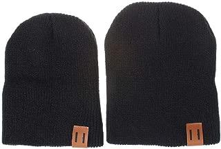 2PCS Parent-Child Hat Warmer Parent& Baby Daughter/Son Winter Warm Knit Hat Family Beanie Knit Cap