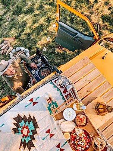 """HUIQ® Peel Forest Caravan Teppich Navajo Tribal Throw Blanket Baumwolle gewebte aztekische Couch Throws Sofa Stuhl Picknick Strandmatte (50 x 60)-50\""""X60"""
