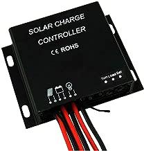 MEGSUN 10A Solar Panel Charge Controller IP67 Waterproof IP67 Solar Regulator 12V 24V with USB Port LED Charging and Load Indicators